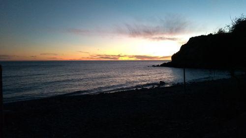 Sonnenuntergangb über dem Mittelmeer