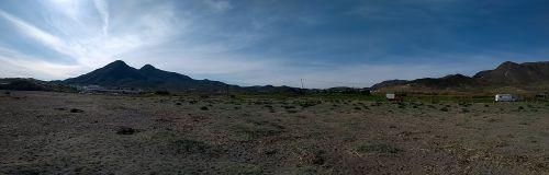 Panorama vom Strand aus