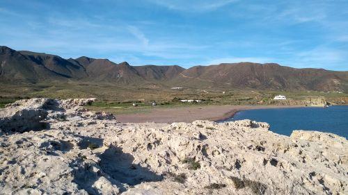 Strand von den Steinen runter