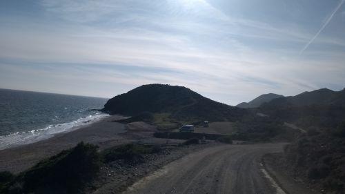 kleine Bucht mit zwei Campern
