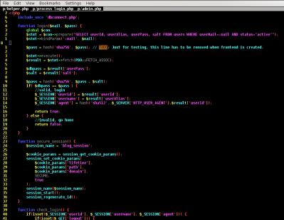 login script